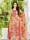 image of Karishma Kapoor Embellished Salwar Suit In Satin Fabric Salmon