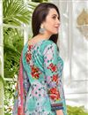 photo of Karishma Kapoor Satin Fabric Light Cyan Printed Salwar Suit