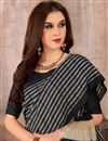 photo of Casual Wear Manipuri Art Silk Style Designer Saree In Black