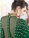 photo of Eid Special Georgette Fabric Dark Green Color Designer Anarkali Salwar Kameez With Embroidery Designs