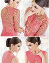 photo of Eid Special Embellished Georgette Fabric Designer Party Wear Pink Color Anarkali Suit