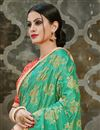 photo of Green Art Silk Designer Fancy Party Wear Printed Work Saree