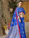 photo of Fancy Blue Traditional Designer Saree In Art Silk With Weaving Work