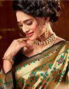 photo of Wedding Function Wear Art Silk Weaving Work Saree In Beige