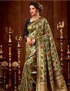 image of Wedding Function Wear Art Silk Weaving Work Saree In Beige