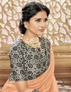 photo of Orange Chiffon Festive Wear Designer Plain Saree With Printed Border