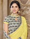 photo of Festive Wear Designer Chiffon Fabric Printed Border Saree In Yellow