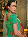 photo of Green Color Art Silk Fabric Designer Saree With Embroidery Work And Gorgeous Blouse