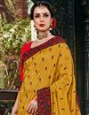 photo of Art Silk Fabric Embroidered Golden Color Party Wear Saree With Attractive Blouse