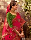 photo of Function Wear Art Silk Fabric Saree In Red Color With Attractive Blouse