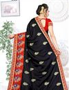 photo of Black Color Art Silk Fabric Party Wear Saree With Embroidered Designs And Tempting Blouse