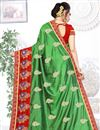 photo of Green Color Party Wear Saree In Art Silk Fabric With Embroidery Work And Designer Blouse