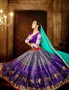 photo of Function Wear Banglori Silk Traditional Printed Designer 3 Piece Lehenga Choli In Purple