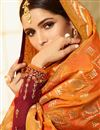 photo of Festive Wear Maroon Embroidered Straight Cut Designer Salwar Kameez In Georgette