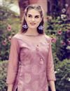 photo of Party Wear Printed Readymade Pink Kurti In Fancy Fabric