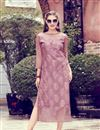 image of Party Wear Printed Readymade Pink Kurti In Fancy Fabric