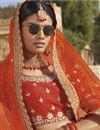 photo of Art Silk Embroidered Designer Sangeet Function Wear Mustard Lehenga Choli