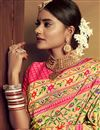 photo of Jacquard Work On Golden Color Designer Saree In Silk Fabric With Admirable Blouse