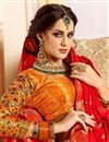 photo of Silk Fabric Designer Bridal Lehenga With Embroidery Work On Red Color