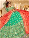 photo of Jacquard Work Wedding Wear Lehenga Choli In Silk Fabric Light Teal Color