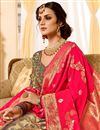 photo of Dark Beige Color Silk Fabric Designer 3 Piece Lehenga Choli With Jacquard Work Designs