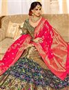 image of Dark Beige Color Silk Fabric Designer 3 Piece Lehenga Choli With Jacquard Work Designs
