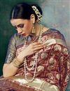 photo of Maroon Art Silk Designer Function Wear Saree With Weaving Work