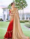 image of Embroidery Designs On Cream Color Function Wear Saree In Georgette Fabric With Classic Blouse