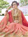 photo of Pink Color Designer Saree In Georgette Fabric With Embroidery Designs And Attractive Blouse