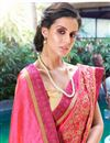 photo of Embroidery Work On Occasion Wear Saree In Pink Color With Designer Blouse