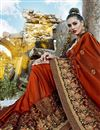 photo of Maroon Color Art Silk Fabric Party Wear Saree With Embroidery Work And Designer Blouse