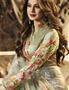 photo of Jennifer Winget Party Wear Beige Lycra Fabric Designer Gown With Fancy Dupatta