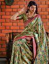 photo of Beige Fancy Designer Party Style Art Silk Saree With Weaving Work