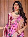 photo of Fancy Art Silk Designer Party Style Pink Saree With Weaving Work