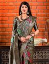 photo of Black Art Silk Designer Party Wear Fancy Saree With Weaving Work