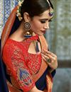 photo of Navy Blue Color Jacquard Work Wedding Wear Art Silk Fabric Traditional Saree