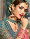 photo of Jacquard Work On Pink Color Designer Saree In Art Silk Fabric