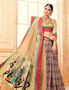 photo of Designer Festive Wear Art Silk Fancy Saree In Cream With Digital Print Work