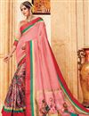 image of Pink Art Silk Designer Festive Wear Fancy Saree With Digital Print Work