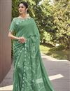 image of Green Color Georgette Fabric Fancy Printed Daily Wear Saree