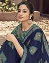 photo of Festive Wear Fancy Georgette Fabric Designer Digitally Printed Saree In Navy Blue