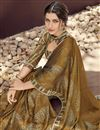 photo of Georgette Fabric Casual Wear Printed Saree In Brown Color