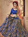 photo of Occasion Wear Lehenga In Satin Silk Fabric Blue Color With Embroidery Work