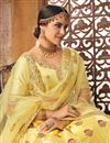 photo of Bridal Wear Designer Art Silk Fabric Yellow Lehenga Choli With Embroidery Work
