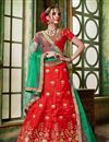 image of Art Silk Fabric Wedding Wear Embroidered Lehenga Choli