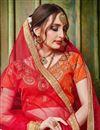 photo of Art Silk Fabric Attractively Embroidered Designer Lehenga Choli In Orange