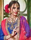 photo of Artistically Embroidered Art Silk Fabric Designer Blue Lehnega Choli