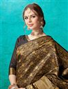 photo of Designer Festive Wear Fancy Black Saree In Art Silk With Weaving Work