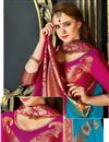 photo of Art Silk Fabric Sky Blue Color Embroidered Designer Saree With Designer Blouse
