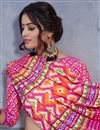 photo of Casual Style Art Silk Designer Printed Pink Fancy Saree